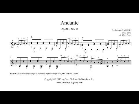 Carulli : Andante Op. 241, No. 18