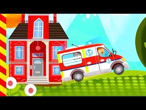 Мультик про больницу - веселые доктора. Скорая помощь с сиреной мчится спасать детей.