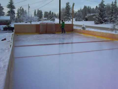 homemade ice rink quesnel 3 youtube