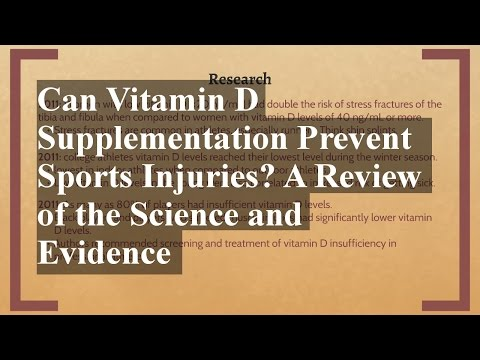 Can Vitamin D Supplementation Prevent Sports Injuries? A Review of the Science and Evidence