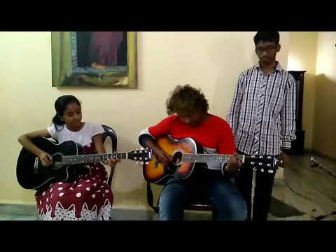 Neeve neeve song guitar playing from Raaga music school