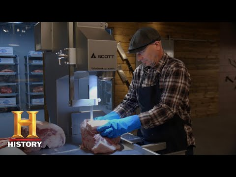 The Butcher: Dave Cuts Steaks On The Bandsaw | Exclusive | History