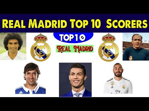 Real Madrid Top 10 Goals Scorers Of All Time History ✦ Top 10 Goals Scorer Of Real Madrid.