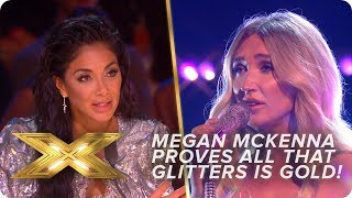 Megan McKenna proves all that glitters IS gold!   Live Week 1   X Factor: Celebrity