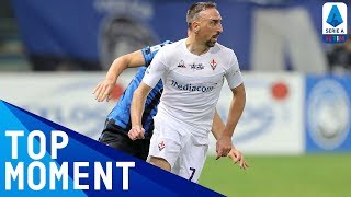 Franck Ribéry Opens His Serie A account with a Stunner | Atalanta 2-2 Fiorentina | Serie A