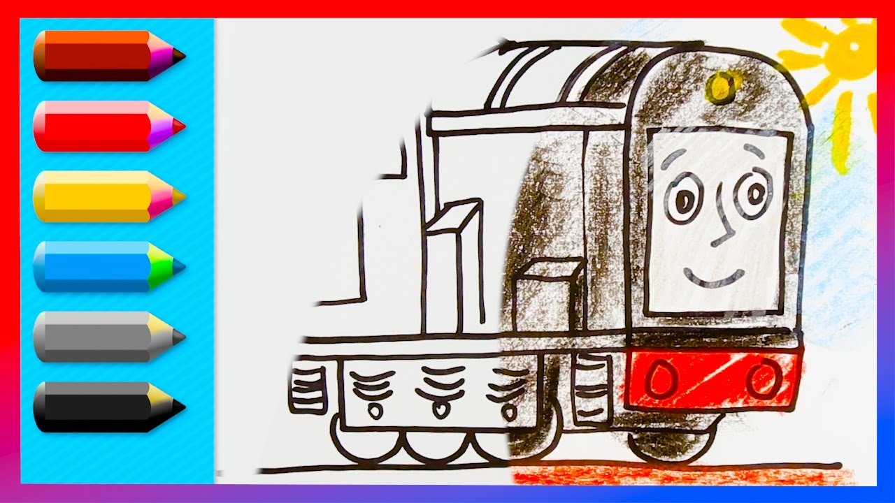 learning videos how to draw diesel thomas and friends