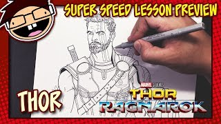 Lesson Preview: How to Draw THOR (Thor: Ragnarok) | Super Speed Time Lapse Art
