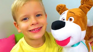 Dima and the song for kids about the dog Bingo in English
