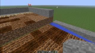 Minecraft jak zrobić Półautomatyczne pole pszenicy #70