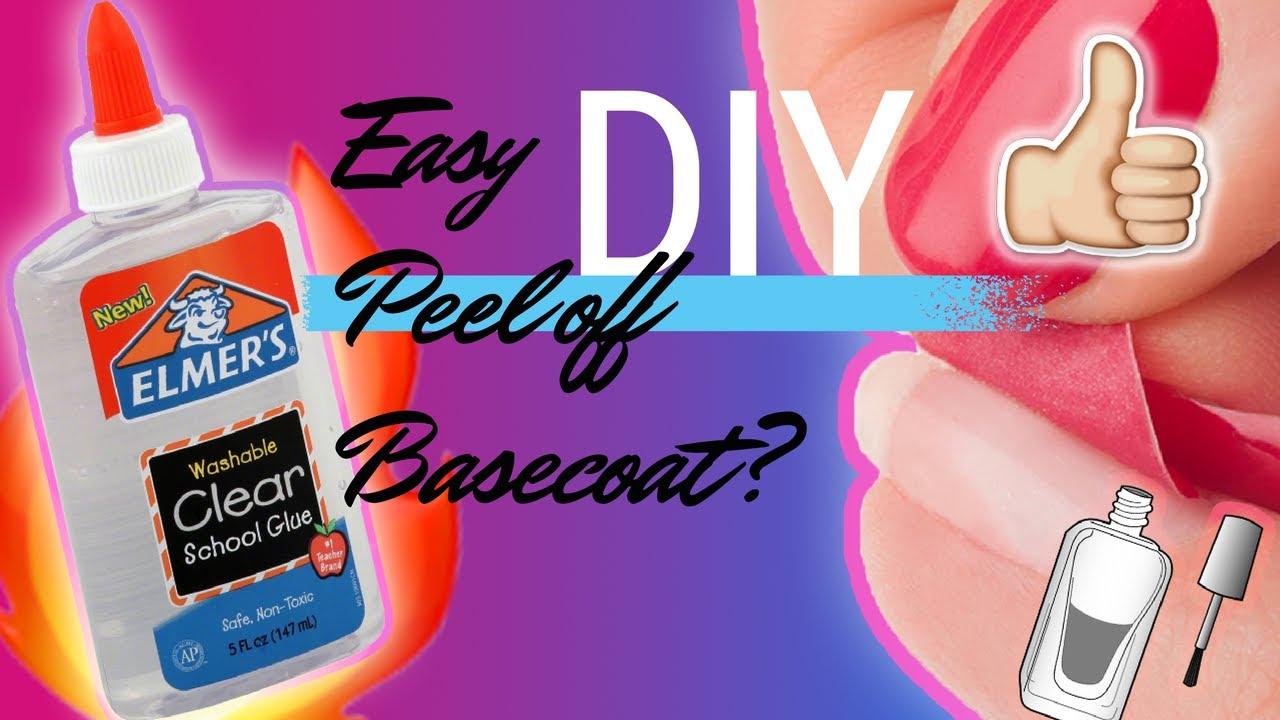 DIY Clear Peel Off Base Coat For Glue On Fake Nails!! | MariMynxx ...