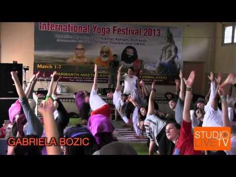Jivamukti Yoga at The 2013 International Yoga Festival from Rishikesh, India