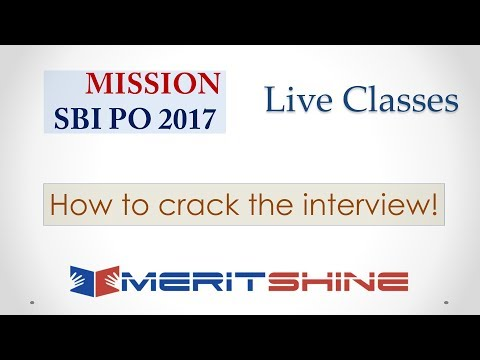 How to crack the interview | SBI PO 2017 Online Classes