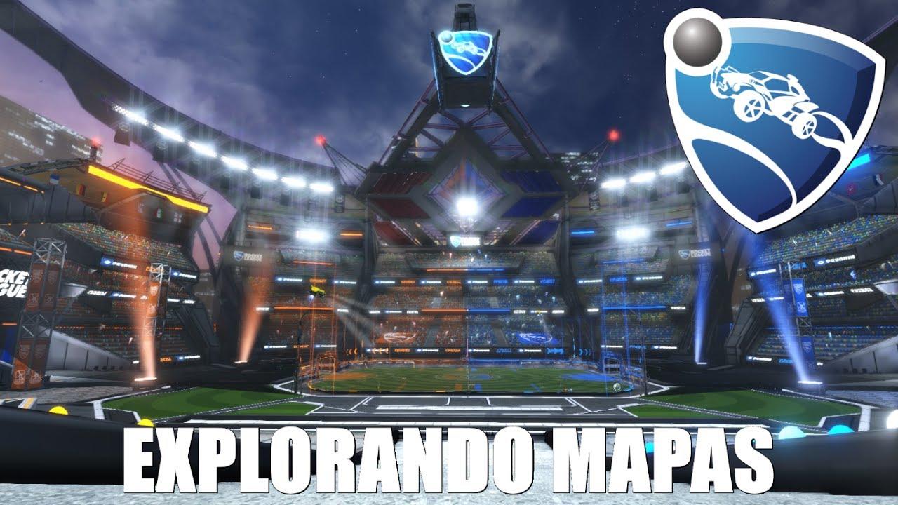 Rocket League Champions Field Explorando Mapas 5 Youtube