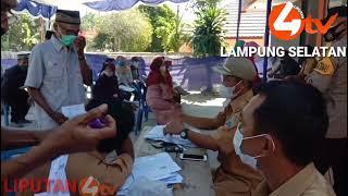 LIPUTAN4 TV. Ada Apa Kepala Desa Tanjung sari Kekantor Pos Saat pembagian Bansos BST