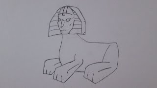 How to draw the Sphinx of Giza