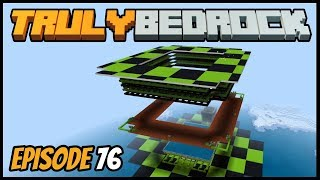 Creeper Farm Is Finished! - Truly Bedrock (Minecraft Survival Let's Play) Episode 76