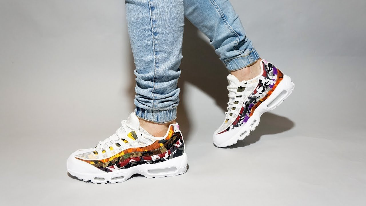 Nike Air Max 95 ERDL Party White Camo AR4473 100 on feet