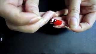 Простой рисунок на ногтях иглой 6