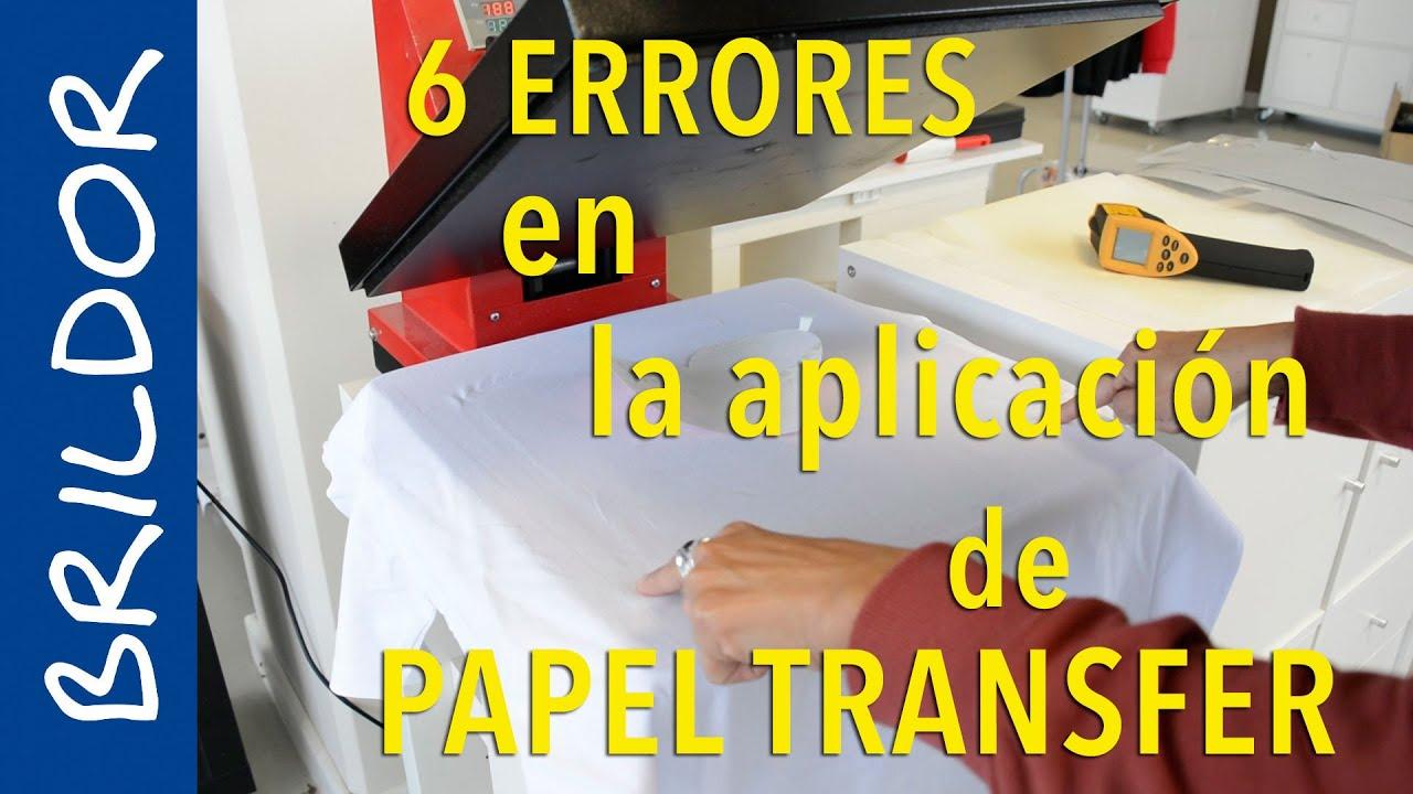 55a048a632ede Los 6 errores más comunes en la aplicación del papel transfer - YouTube