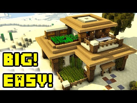 Minecraft Tutorial: Advanced Large Desert House Build