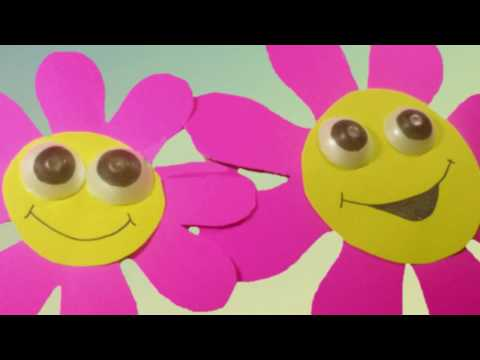 Flores de pared para pre k   manualidadesconninos   youtube
