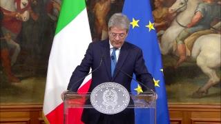 Macerata, dichiarazioni del Presidente Gentiloni
