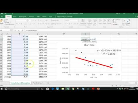 how to run linear regression in excel