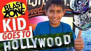 Blast Zone Kid Goes To Hollywood!  Epic Beyblade Burst Toy Hunt!  Takara Tomy & Hasbro Beyblades