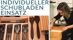 DIY Schubladeneinsatz ohne sägen!! | Besteckeinsatz mit integriertem Messerblock