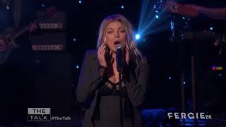 fergie performs new single a little work live on the talk hd