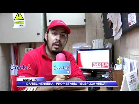 SALUDO TELEPIZZA ARICA - PROGRAMA CONECTA2 DE ARICA TV