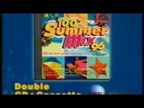 100% SUMMER MIX 96  album cassette cd  TV ADVERT 1996  ITV SOUTH  butlins 1996 anthems