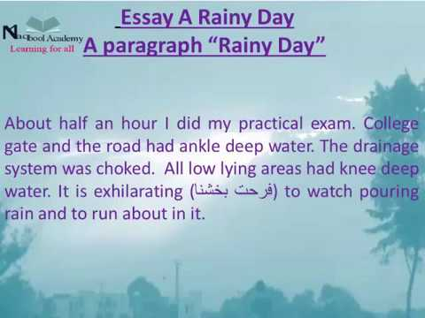 Essay on Rainy Day in English for Children and Students