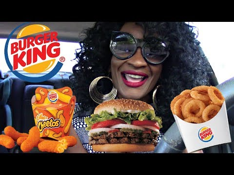 MUKBANG: BURGER KING MAC & CHEETOS, DOUBLE WHOPPER, & CHEESECAKE EATING SHOW!