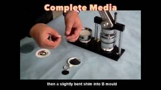 How to Make a Mirror or Mirror Keychain Button by Badge Maker Making Machine
