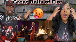THIS IS FIRE!!! JERRY LEE LEWIS - GREAT BALLS OF FIRE (REACTION)