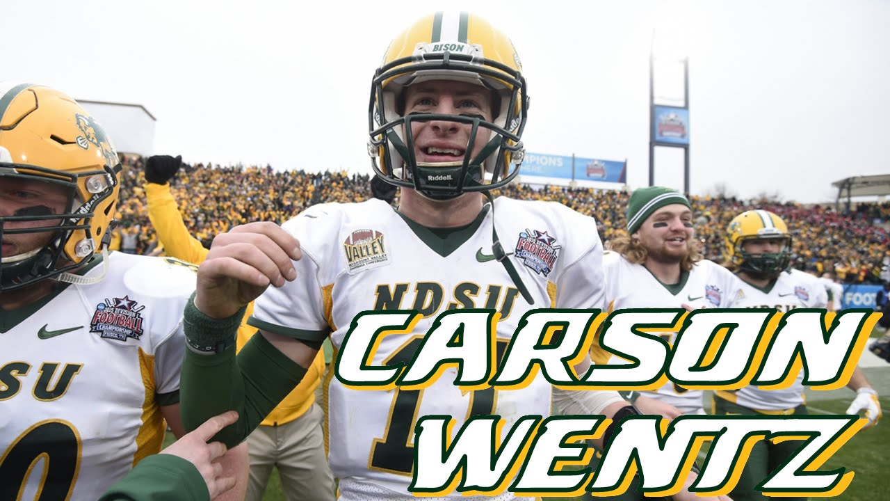 huge selection of 695fd dc5a6 Carson Wentz (NDSU QB) vs Iowa State 2014