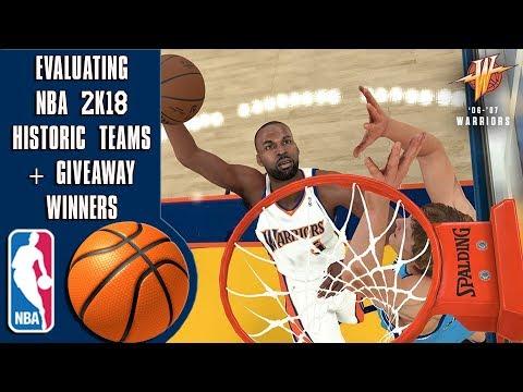 Evaluating NBA 2K18's 17 historic teams + 2K18 Giveaway winners!