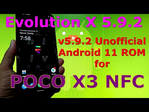 Evolution X 5.9.2 Unofficial for Poco X3 NFC (Surya) Android 11