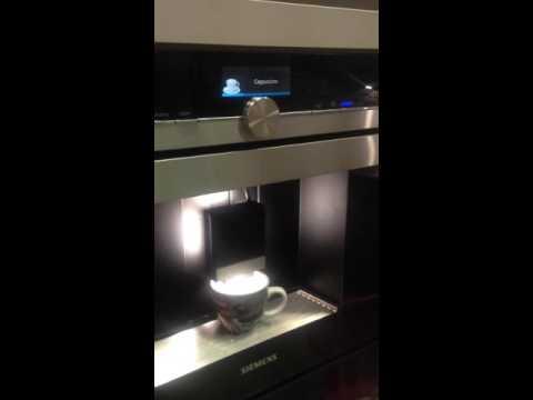 Cappuccino Siemens CT636LES1 Einbau-Kaffeemaschine