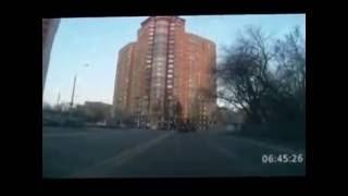 Пробка на трассе Новая Рига.