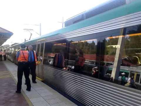 Transperth perth express train at showgrounds