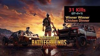 "[Hindi] PUBG Mobile   ""27 Kills"" Amazing Pochinki Fight & Chicken Dinner"