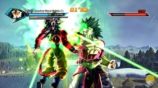 Dragon Ball Xenoverse (PC): Super Saiyan 4 Broly Vs Super Saiyan 4 Goku Gameplay [MOD] 【60FPS 1080P】
