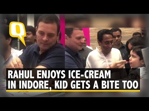 Rahul Gandhi, Scindia and Kamal Nath Enjoy Ice-Cream in Indore, MP | The Quint