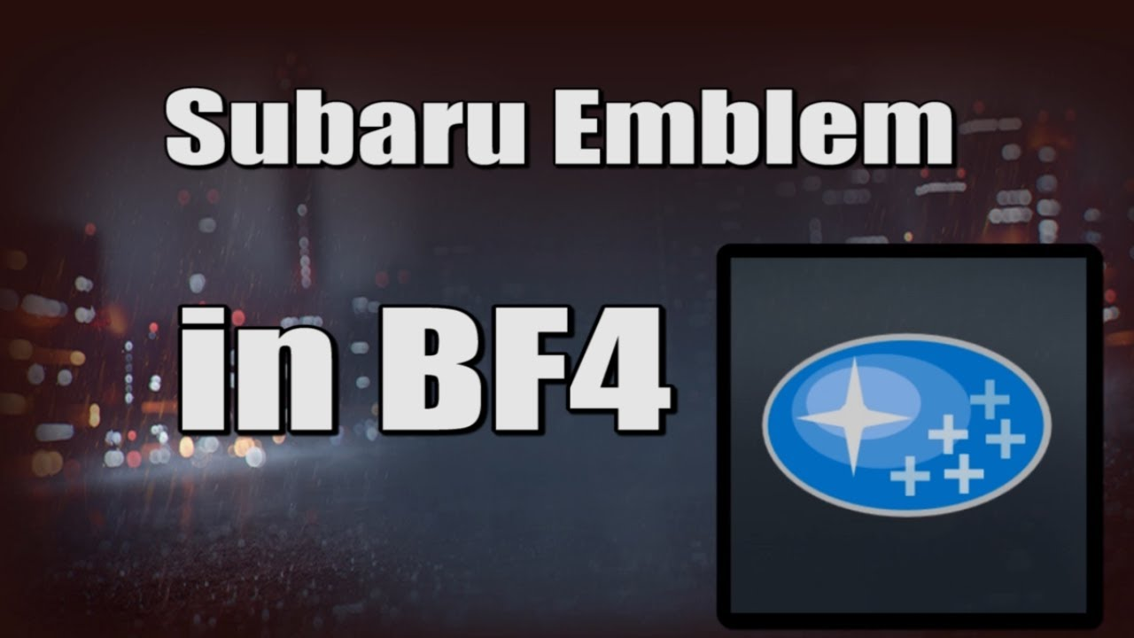 subaru emblem in bf4 battlefield 4 emblem creator youtube