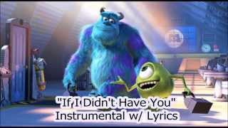 "Monster's Inc. - ""If I Didn't Have You"" (Karaoke Instrumental w/ Lyrics) (HD)"