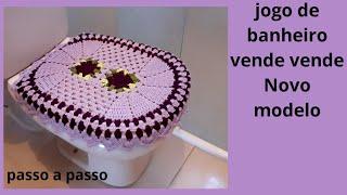 JOGO DE BANHEIRO VENDE VENDE NOVO MODELO, TAMPA DO VASO PASSO A PASSO