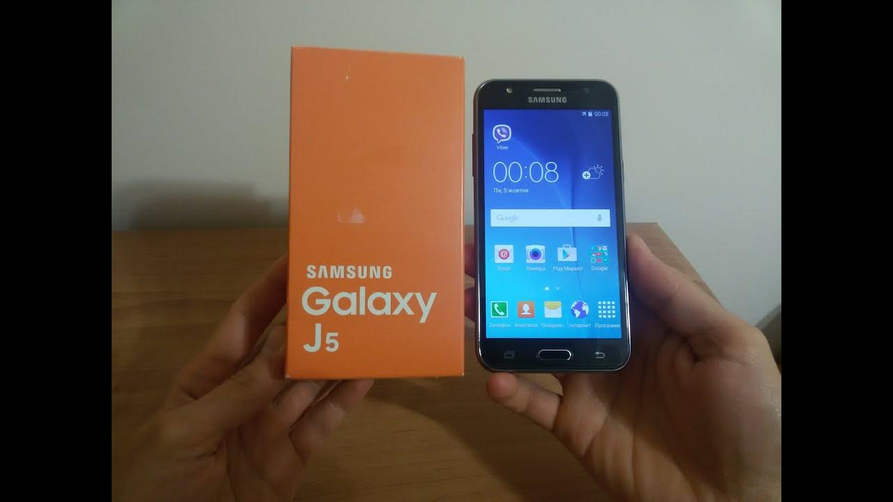 Samsung Galaxy J5 Распаковка J5 J500H Black Unboxing & First Look