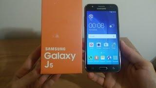 Samsung Galaxy J5 Распаковка J5 J500H/Black Unboxing & First Look!